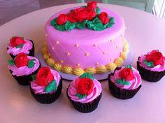 rose cake by sweet aroma
