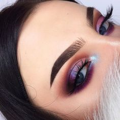 Likes, 174 Comments - Anna Jantos (Anna) on . - Make Up Forever Silver Eye Makeup, Glam Makeup, Love Makeup, Skin Makeup, Makeup Inspo, Eyeshadow Makeup, Makeup Art, Eyeshadow Palette, Purple Eyeshadow