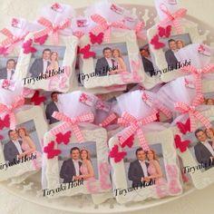 ♥ Tiryaki Hobi ♥: Keçe çerçeve magnet / nikah şekeri (Nuray&Eray) / felt frame / wedding favors