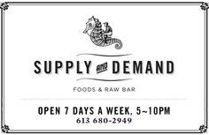 Supply and Demand - a must-visit Ottawa restaurant