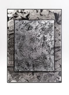 *Untitled (silver texture on silver crease stack)*