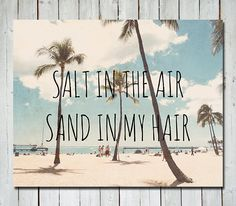 Beach Photography - Hawaii oahu waikiki - quote photograph - palm trees beach ocean photograph - 8X10 art print - nautical decor. $30.00, via Etsy.