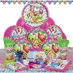 Deluxe Shopkins Hoopla Party Supplies Kit for 8