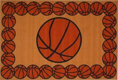 Basketball Time Accent Rug 19-Inch by 29-Inch Fun Rugs Sport Decor FT-93 1929  #FunRugs