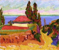 Auguste Herbin (French: 1882 – 1960) | Fauvism | Corsican Landscape, 1907