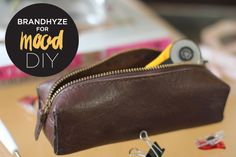 Mood DIY: Leather Pencil Case (Mood Designer Fabrics Sewciety Blog)