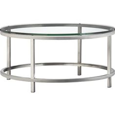 Era Round Coffee Table in Coffee Tables & Side Tables   Crate and Barrel