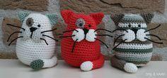 Mesmerizing Crochet an Amigurumi Rabbit Ideas. Lovely Crochet an Amigurumi Rabbit Ideas. Crochet Diy, Chat Crochet, Crochet Mignon, Crochet Cat Pattern, Crochet Amigurumi, Amigurumi Patterns, Crochet Crafts, Crochet Dolls, Yarn Crafts