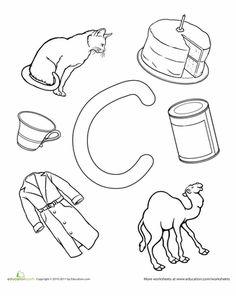 Worksheets: C Is For...  (This website has TONS of free worksheets to print off)