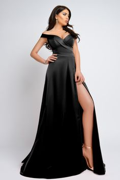 Rochie lunga tafta neagra Rn 1895n Atmosphere Fashion, Soho, One Shoulder, Formal Dresses, Atelier, Dresses For Formal, Formal Gowns, Black Tie Dresses, Suho