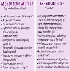 "Checklist for ""Are you being abused?"" and ""Are you abusive?"""