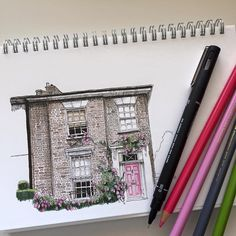 #art #drawing #pen #sketch #illustration #linedrawing #fabercastell #westdesignproducts #architecture #house