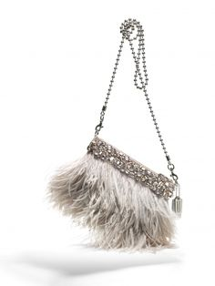 Coach Ostrich Feather Clutch