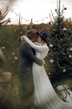 Christmas Tree Farm, Christmas Wedding, Boho Wedding, Wedding Inspiration, Dresses, Style, Fashion, Vestidos, Swag