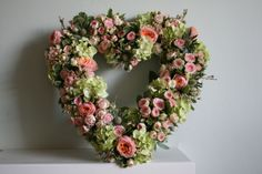 Rose heart wreath www.thestockbridgeflowercompany.co.uk