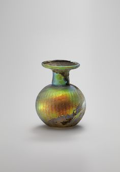 *Roman Perfume Sprinkler bottle, century A. Green glass h. Historical Artifacts, Ancient Artifacts, Glass Bead Game, Museum Studies, Empire Romain, Archaeological Discoveries, Art Of Glass, Roman Art, Ancient Romans