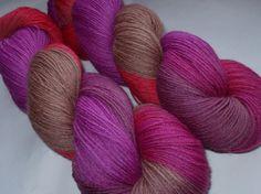 La Reine Margot  virgin wool yarn by alltheprettyfibers on Etsy, $20.00