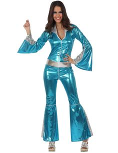 COOL HIPPIE KIT Donna Costume Hippy 60s 70s Set Costume Da Donna Adulti ACC