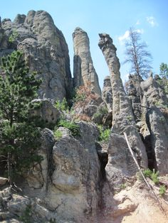 Granite Spires of Needles Highway, Black Hills, South Dakota South Dakota State, North Dakota, Needles Highway, Home On The Range, Wyoming, National Parks, Places To Visit, Rock Formations, America