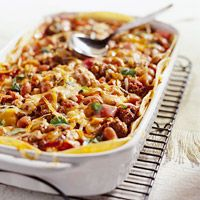 Bean and Beef Enchilada Casserole - prep it on Sunday and bake it later that week.
