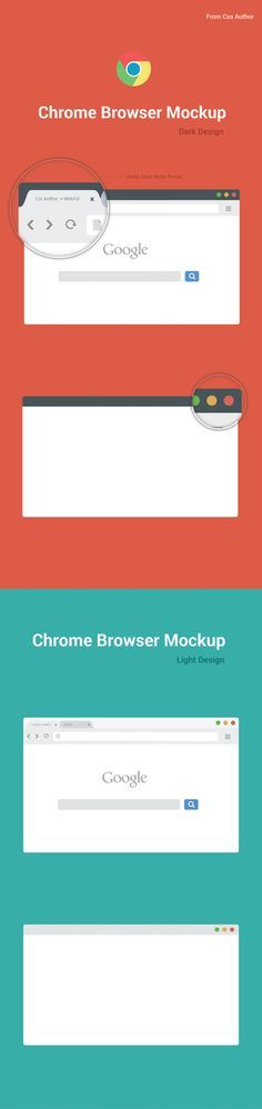Free Chrome Browser Mockup Design Template – Vector by Arun BS, via Behance