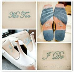 Shoe stickers: I DO / ME TOO | The Perfect Day 2 | The Perfect Day