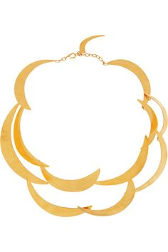 Hervé Van Der Straeten 24-karat gold-plated tiered necklace