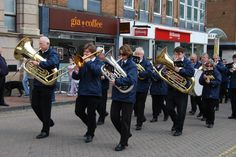 Amersham Marching Band led the annual Scout Parade.