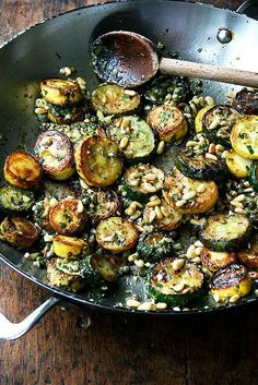 sauteed zucchini with mint basil and pine nuts The post Sautéed Zucchini with Mint Basil & Pine Nuts appeared first on Tasty Recipes. One Dish Meals Tasty Recipes Side Dish Recipes, Vegetable Recipes, Vegetarian Recipes, Healthy Recipes, Healthy Meals, Keto Recipes, Pine Nut Recipes, Freezer Recipes, Cheap Recipes
