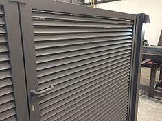 Metallooks Aluminium poorten geen doorkijk horizontale lamellen Model Colorado nieuw design
