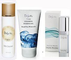 Lot of 3 Items Deja Vu Dead Sea cleansing Foaming Gel  Facial peeling  Biox Milk Cleanser * Learn more by visiting the image link.