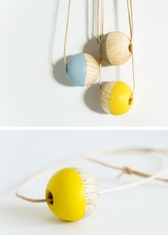 heuteschmidt necklace, dipped on lovely pots of colour