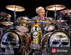 Zz Top Concert, Frank Beard, Coven, Skull Art, Drums, Kicks, Music Instruments, Awesome, Instagram