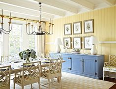 A magnificent dining room sideboard painted periwinkle blue  -  diyhomestagingtips.blogspot.com
