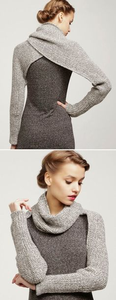 Adorable grey and black long sweater