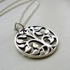 Tree of life necklace Simple sterling silver family by JustJaynes, $39.00