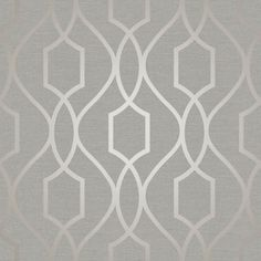 A stylish metallic taupe geometric design on a flat light grey background form the Fine Decor Apex collection