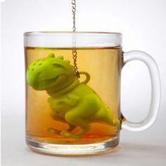 $0.99 Silicone-Shark-Mr-tea-Manatee-Dinosaur-T-REX-Monkey-stainless-Tea-Infuser-Loose
