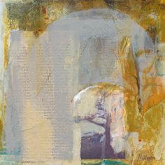 "Joan Fullerton Paintings: Contemporary Abstract Mixed Media Painting ""Future..."