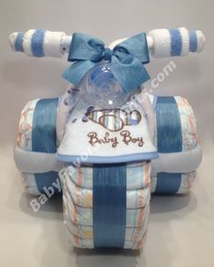 Tricycle Diaper Cake - 9990067 - Baby Boy - Diaper Cakes - by Babyfavorsandgifts