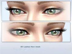 3D eyelashes by Cruzo at TSR via Sims 4 Updates