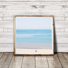 Beach with blurred Horizon, Beach Photo Print, printable Art Print, Instant Digital Download, Wall Art by StarsxButterflies on Etsy