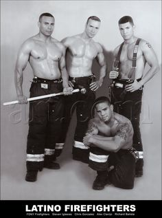 NYC Latino Firefighters Calendar: which month will u pick? Lol