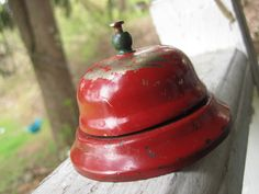 vintage service bell (have this... not red, paint worn off)