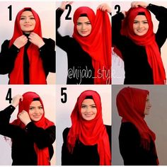 This is a very classic and basic hijab look for beginners anyone can achieve, it takes few minutes and requires only a maxi scarf, underscarf and a safety pin, you can create it using Pashmina or any maxi scarf of…