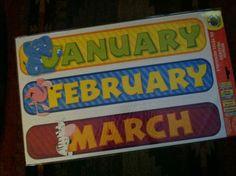 ZOO Animal Monthly Headers FOR Calendar FOR Teachers Daycares Homeschoolers   eBay