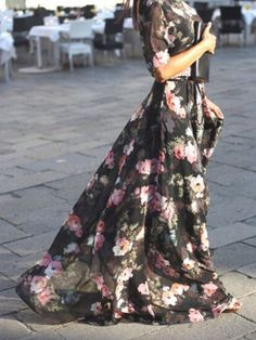dark floral maxi