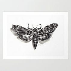 Moth Art Print by Black Magic Woman - $15.60