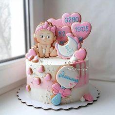 ideas cupcakes decoration bautizo babyshower for 2019 Baby Shower Cake Decorations, Baby Shower Cupcakes For Girls, Baby Shower Cookies, Fondant Cupcakes, Cupcake Cakes, Cupcake Ideas, Baby Girl Cakes, Cake Baby, Novelty Cakes