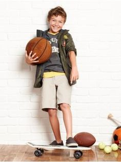 Gap Ad...want to reproduce with my boy and all his sports equipment!